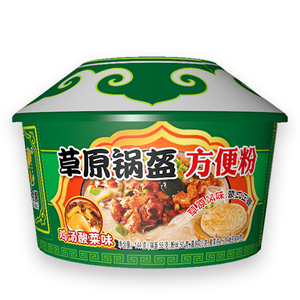 锅盔方便粉 鸡汤酸菜