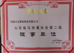 山东省马铃薯协会第二届理事单位